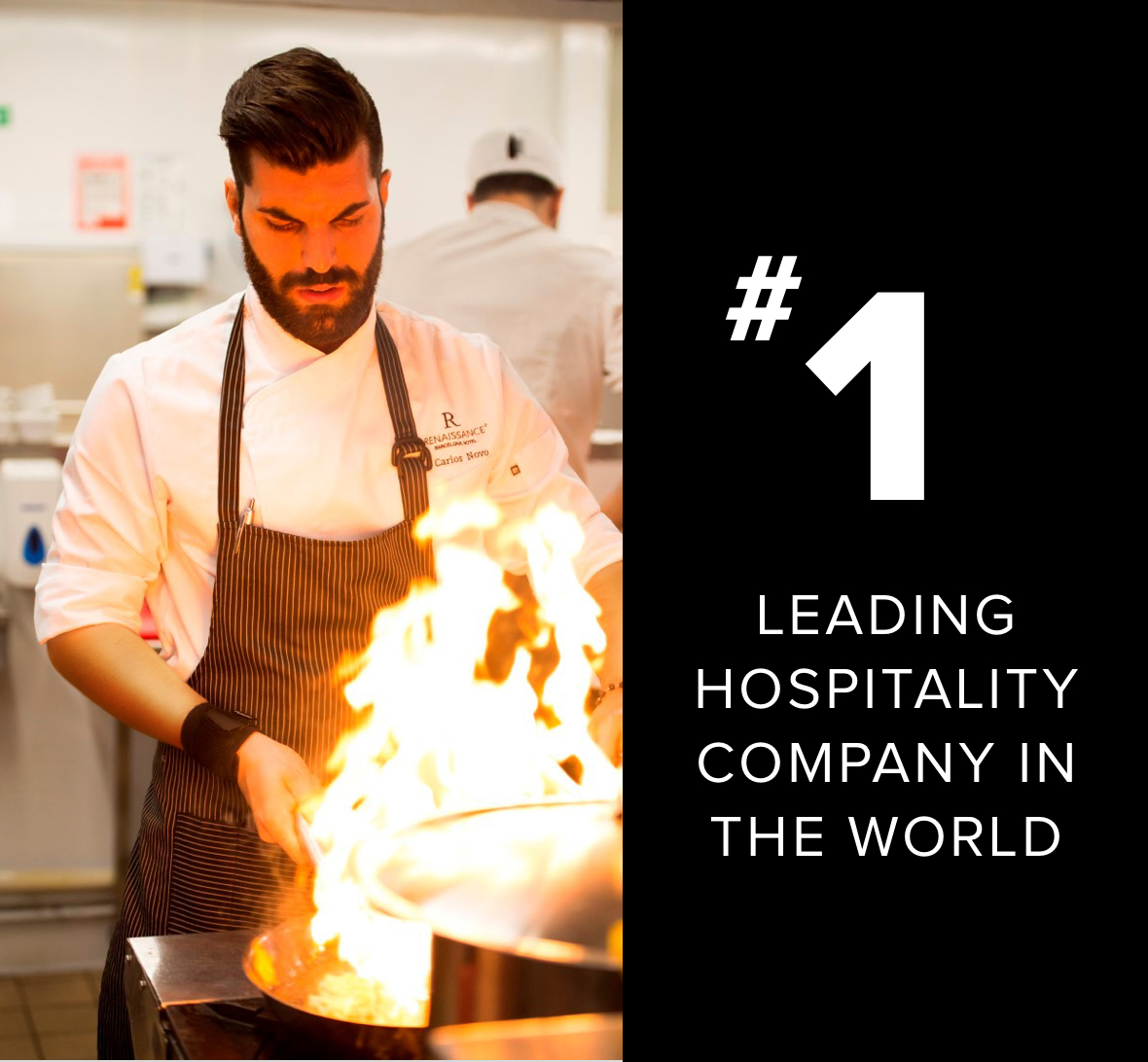 Number one leading hospitality company in the world